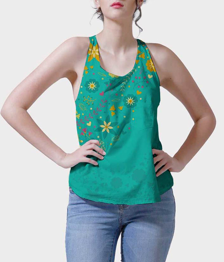 Girls day out women's printed tank