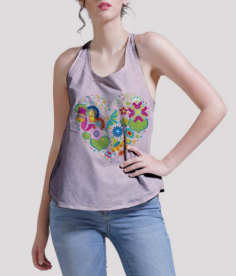 Love yourself women's printed tank