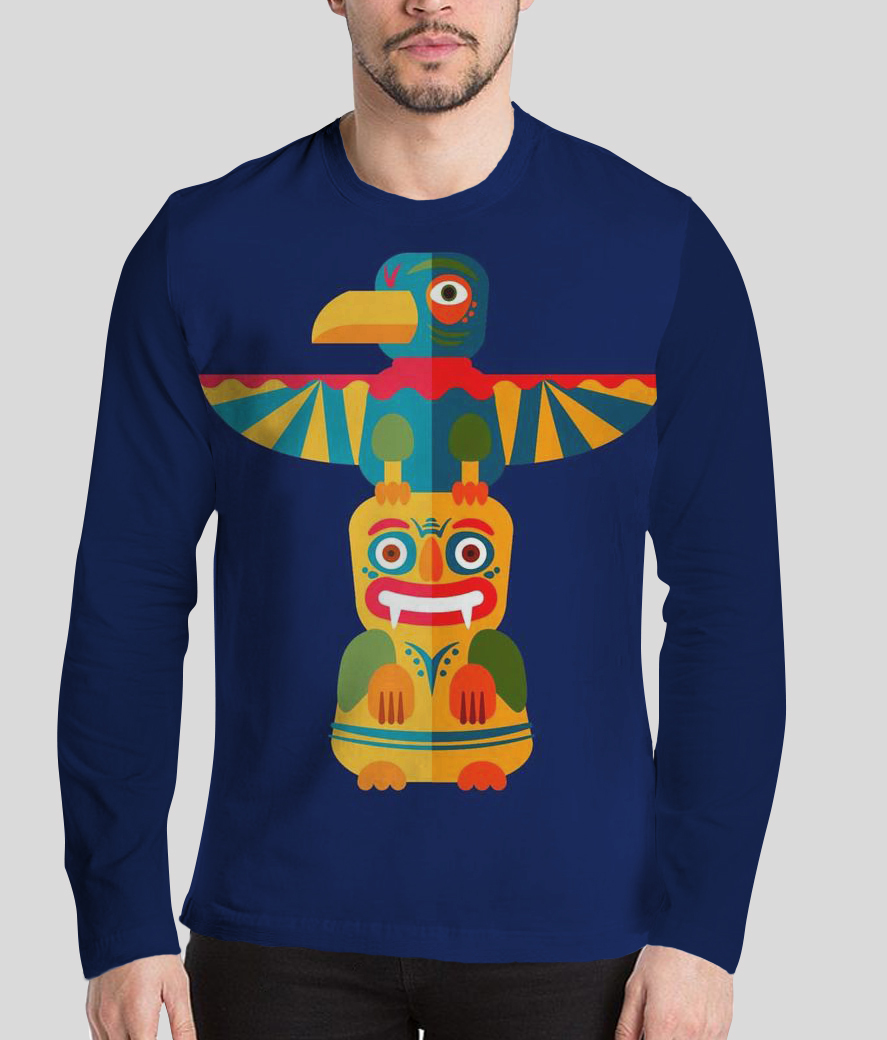 The puppet show men's printed full sleeves henley