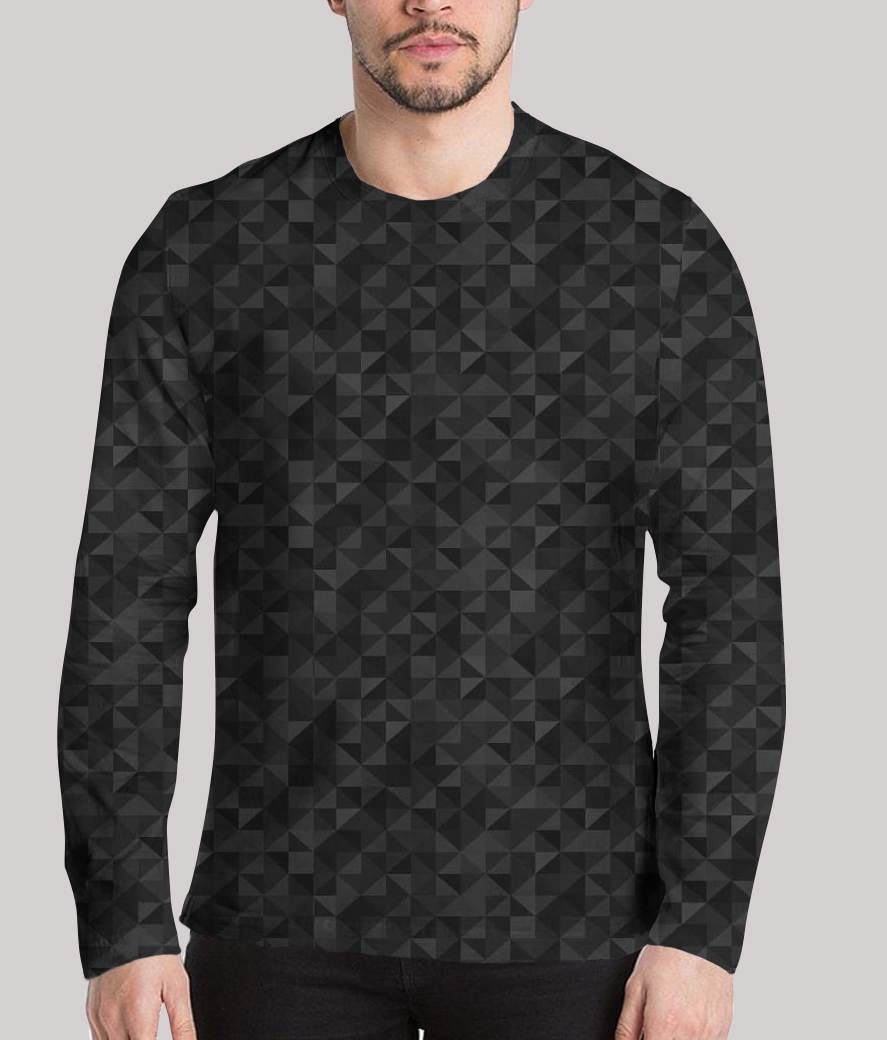 Life is a maze men's printed full sleeves henley