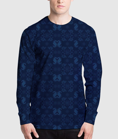The royal tag men's printed full sleeves henley