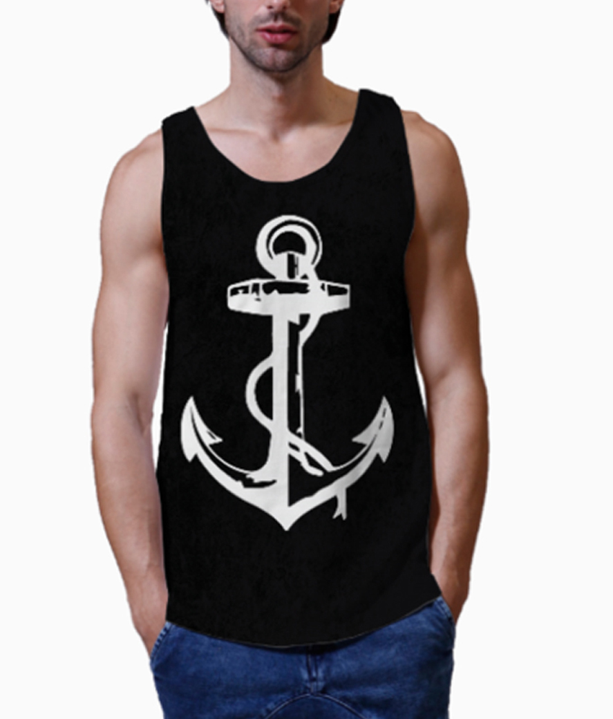 Anchor men's printed vest close up