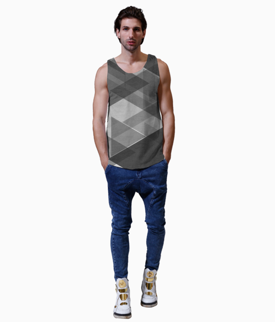 Grey abstract vest front