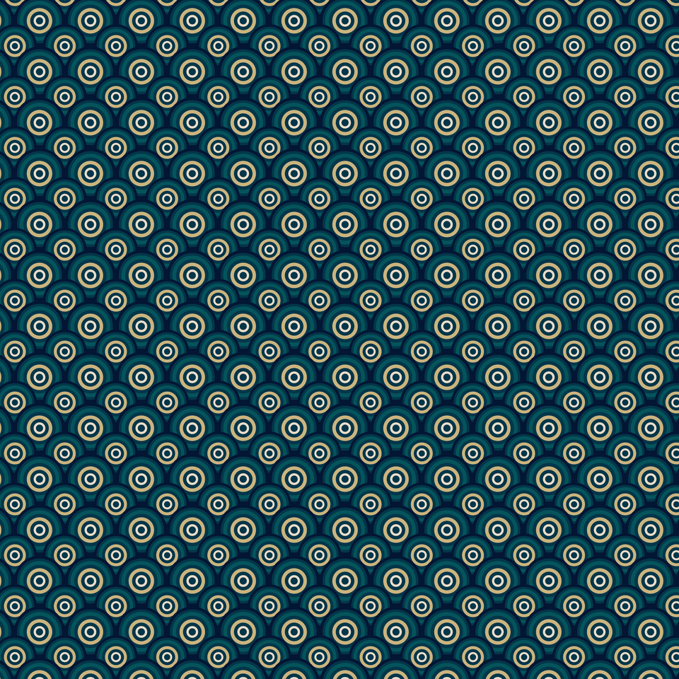 Dark blue seamless circles