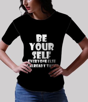 Being me tee front