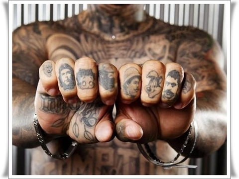 Grey ink finger tattoos for men %281%29
