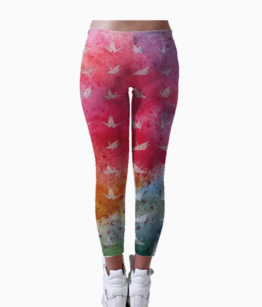 Cranes colourburst leggings back