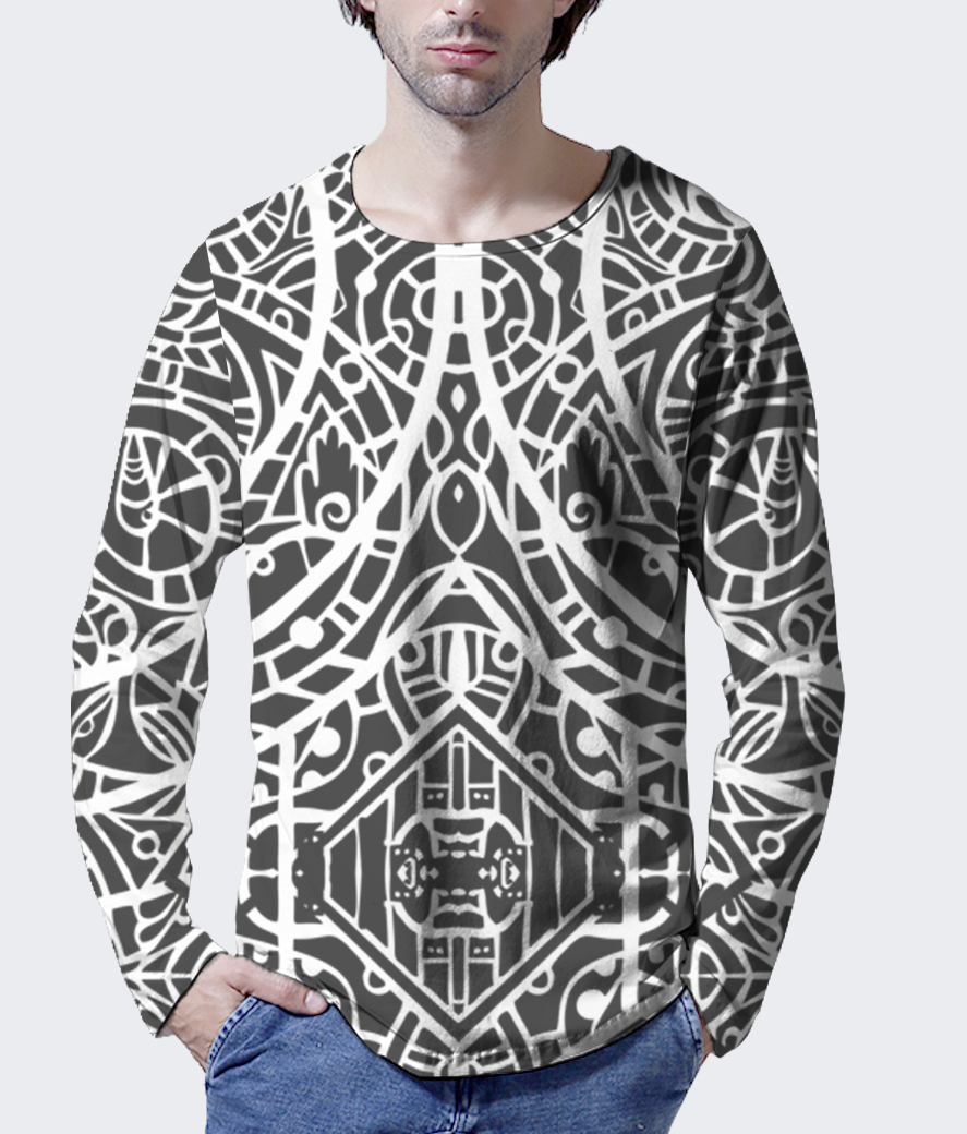 High tribe men's printed henley