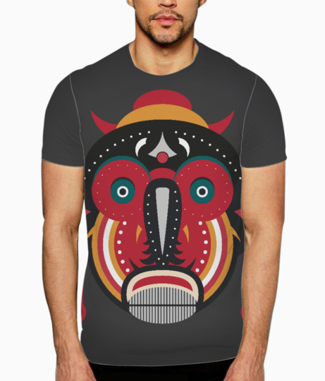 Ethnic african tribal art t shirt front