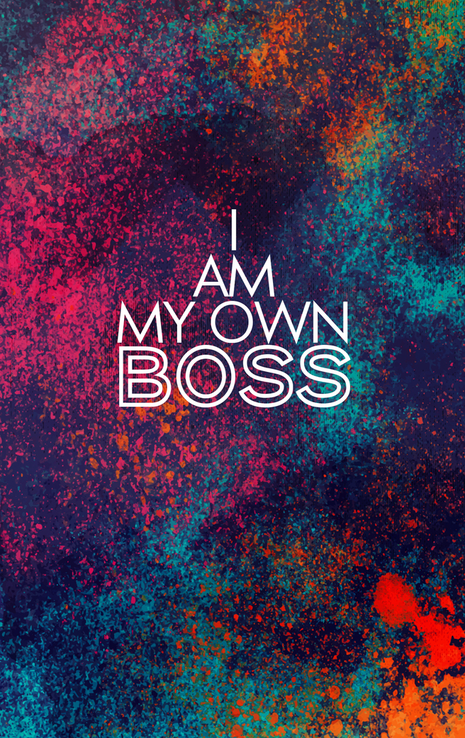I Am My Own Boss Mens Printed Vest Redesyn
