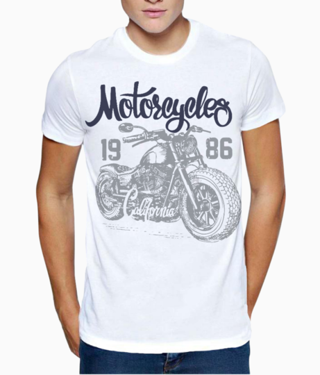 Motorcycle ride t shirt front