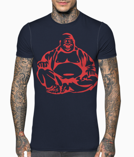 Laughinf buddha t shirt front