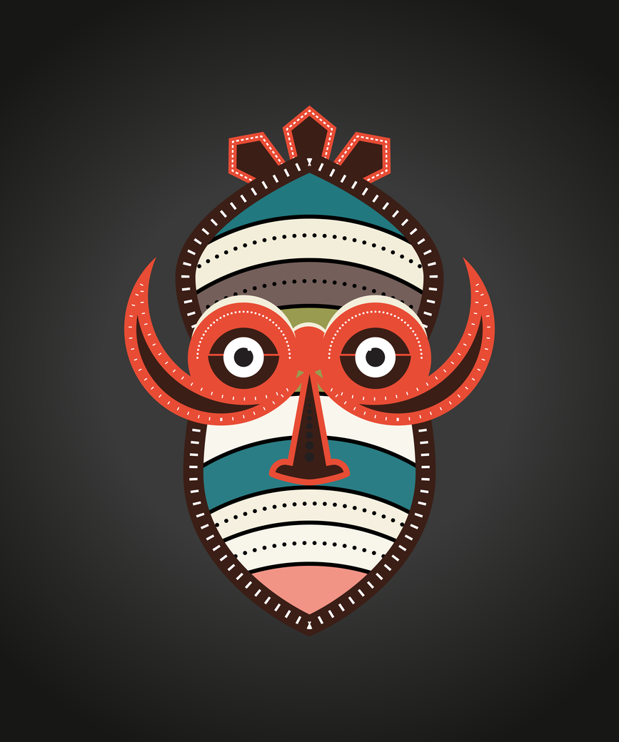 African authentic tribal mask 1