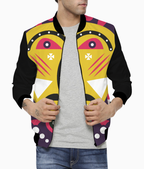 Kuba mask men's bomber front