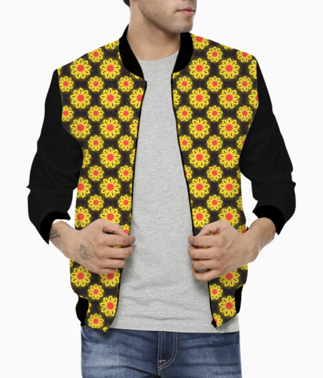 Summer flowers men's bomber front