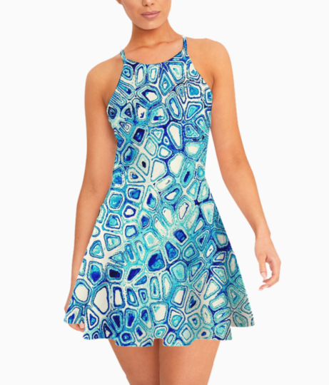 Block print summer dress front
