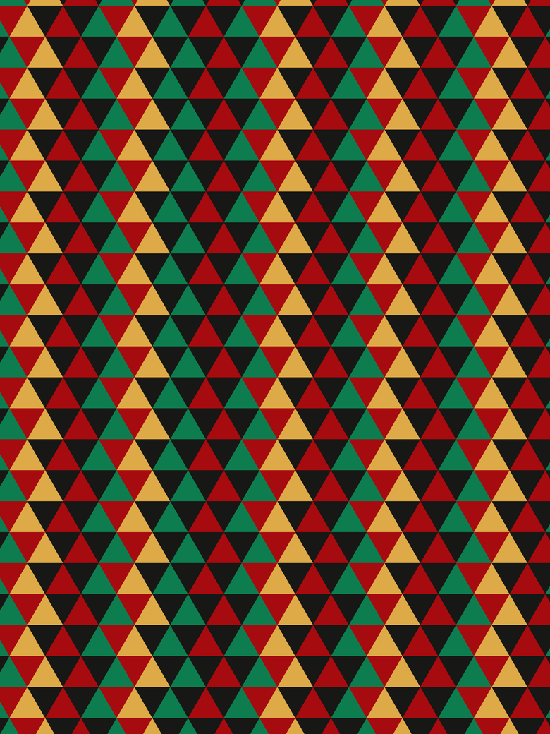Abstract triangle art