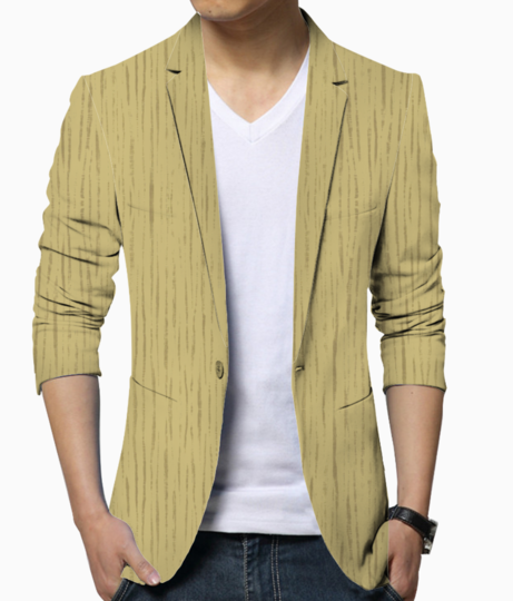 Dark golden wall men's blazer front