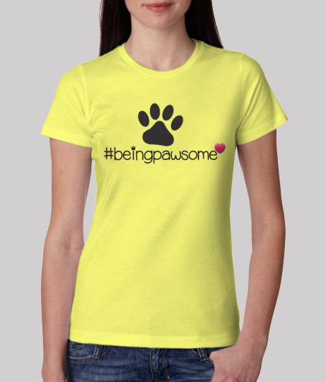 Pawsome tee front