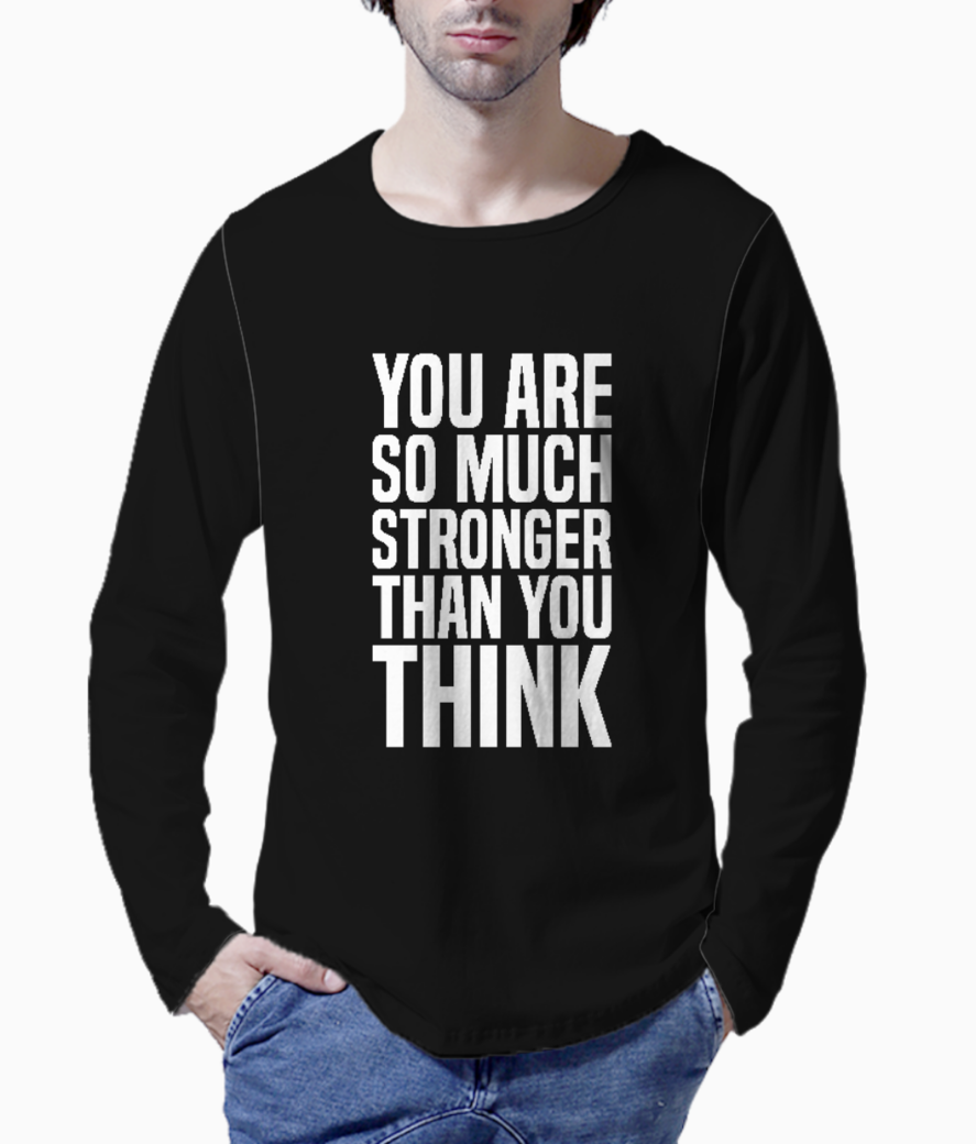 So much stronger typography henley front