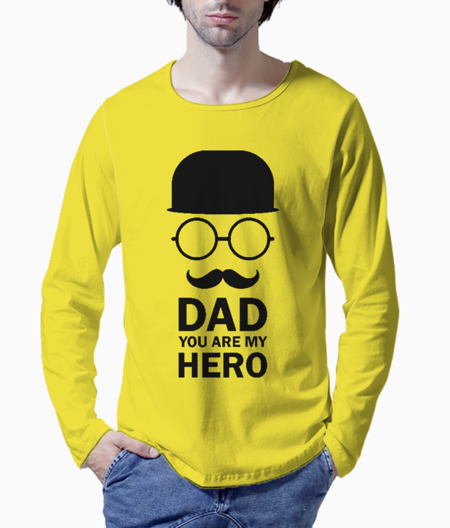 Dad you are my hero henley front
