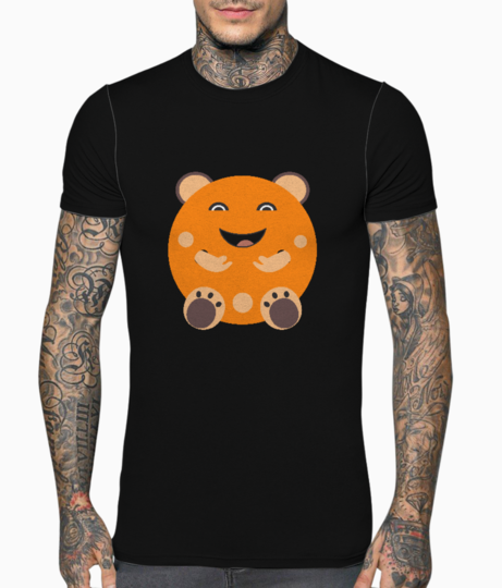 Laughing character t shirt front