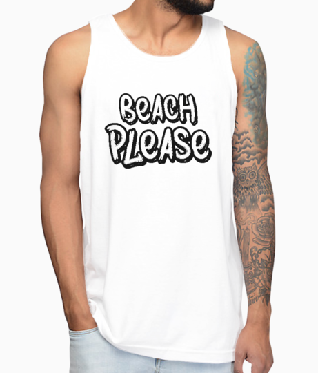 Beach please vest front