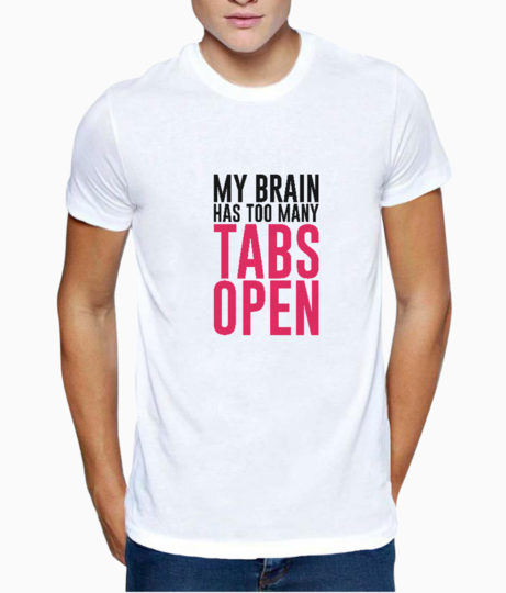 Tabs open typography t shirt front