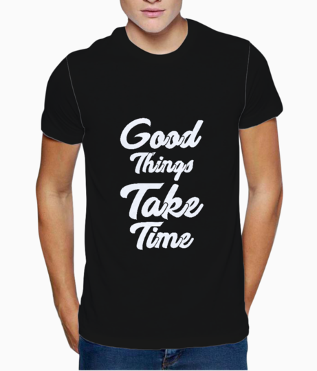 Take time typography t shirt front
