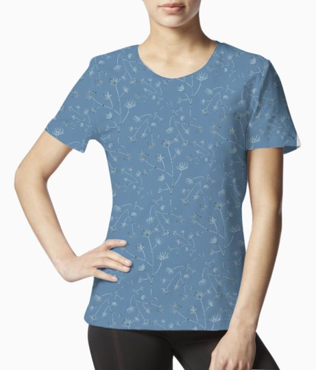 Blue spring tee front