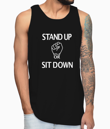 Stand up vest front