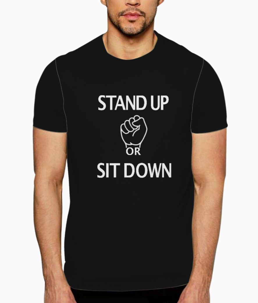Stand up t shirt front