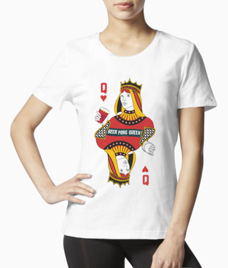 25042257 queen of diamonds without card original design stock vector playing tee front