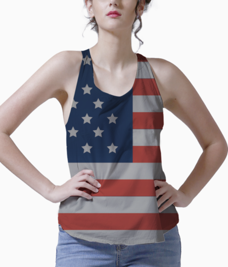 American flag tank front