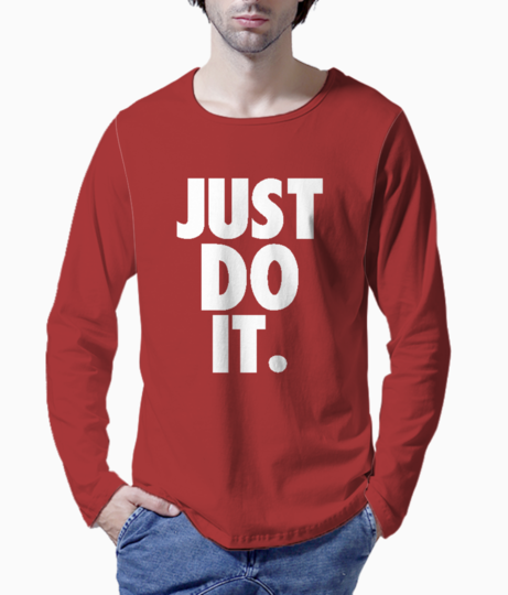 Just do it typography henley front