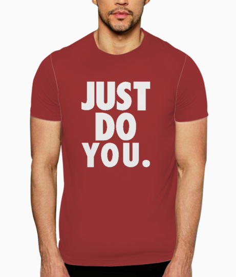 Just do you typography t shirt front