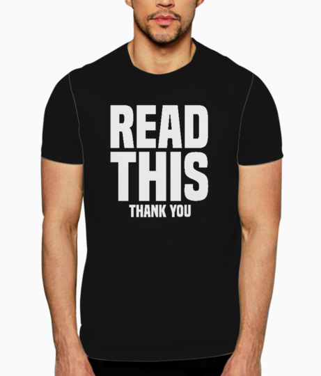 Read this t shirt front