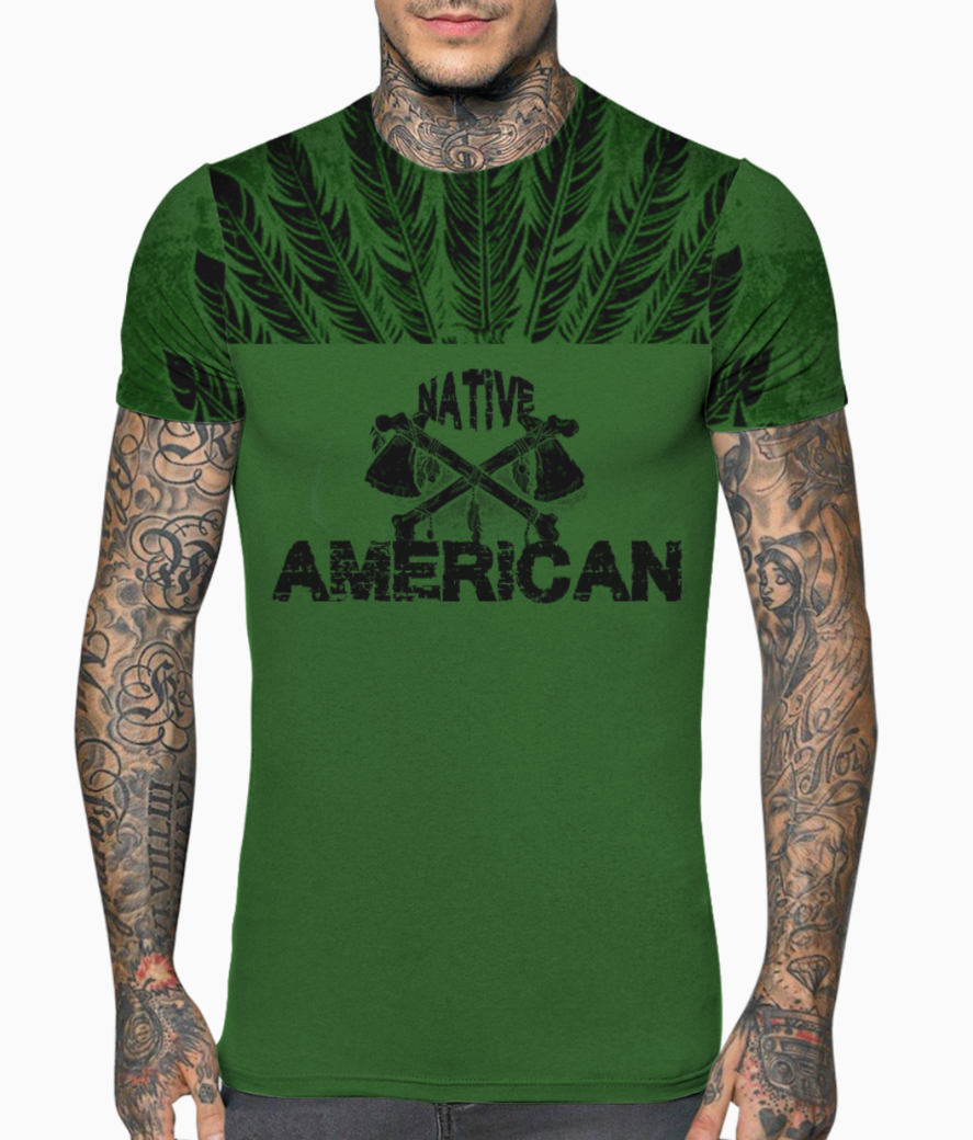 Native back t shirt front