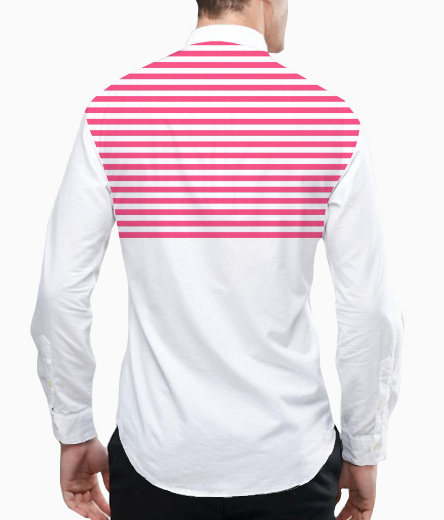 Sripes basic shirt back