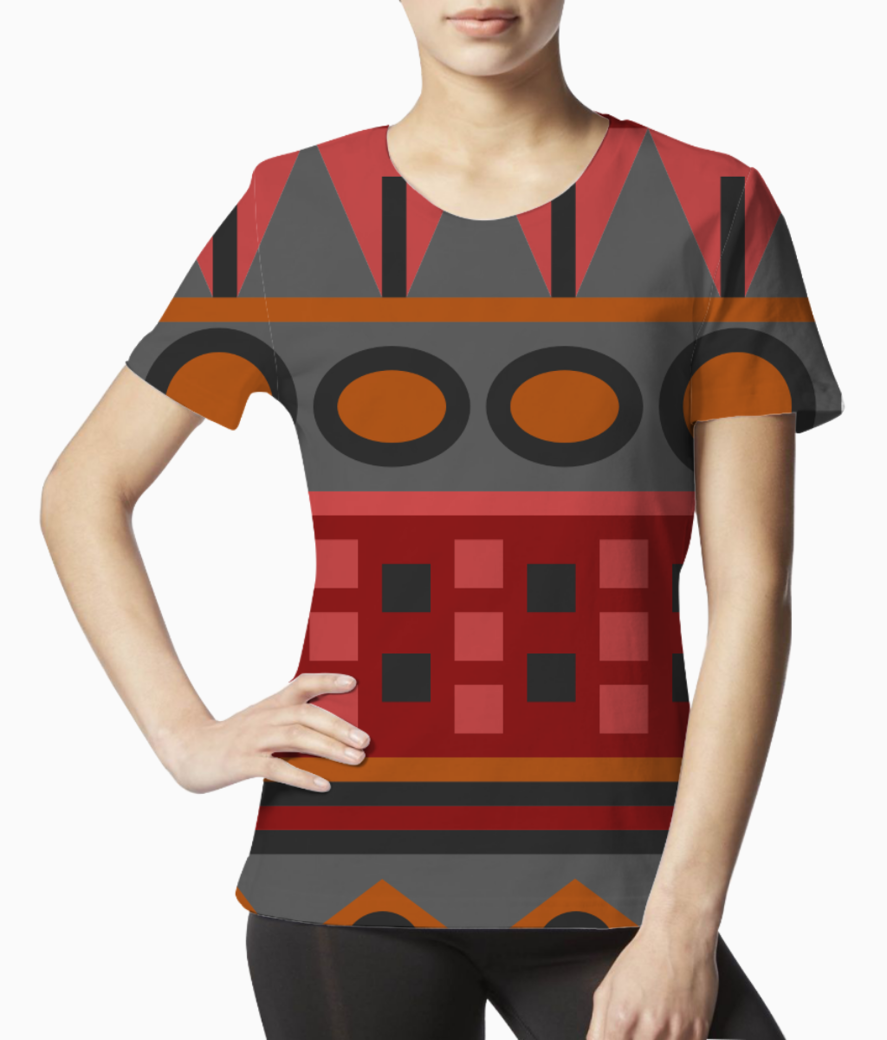 Tribal pattern tee front