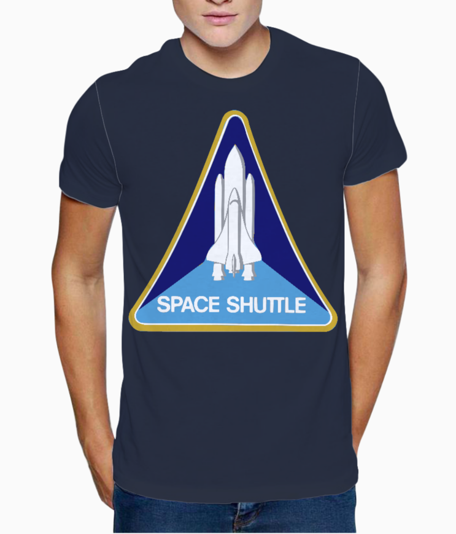 Space shuttle t shirt front