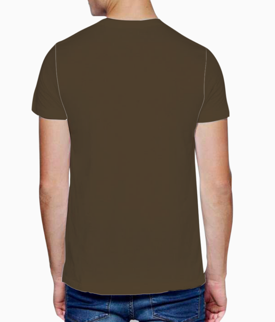 Brown giraffe t shirt back