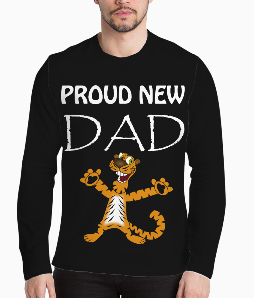 Proud new dad tiger henley front