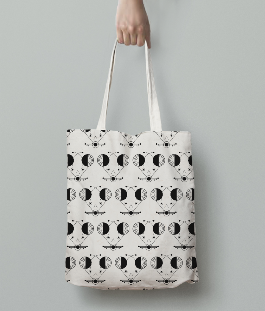 Deer tote bag back