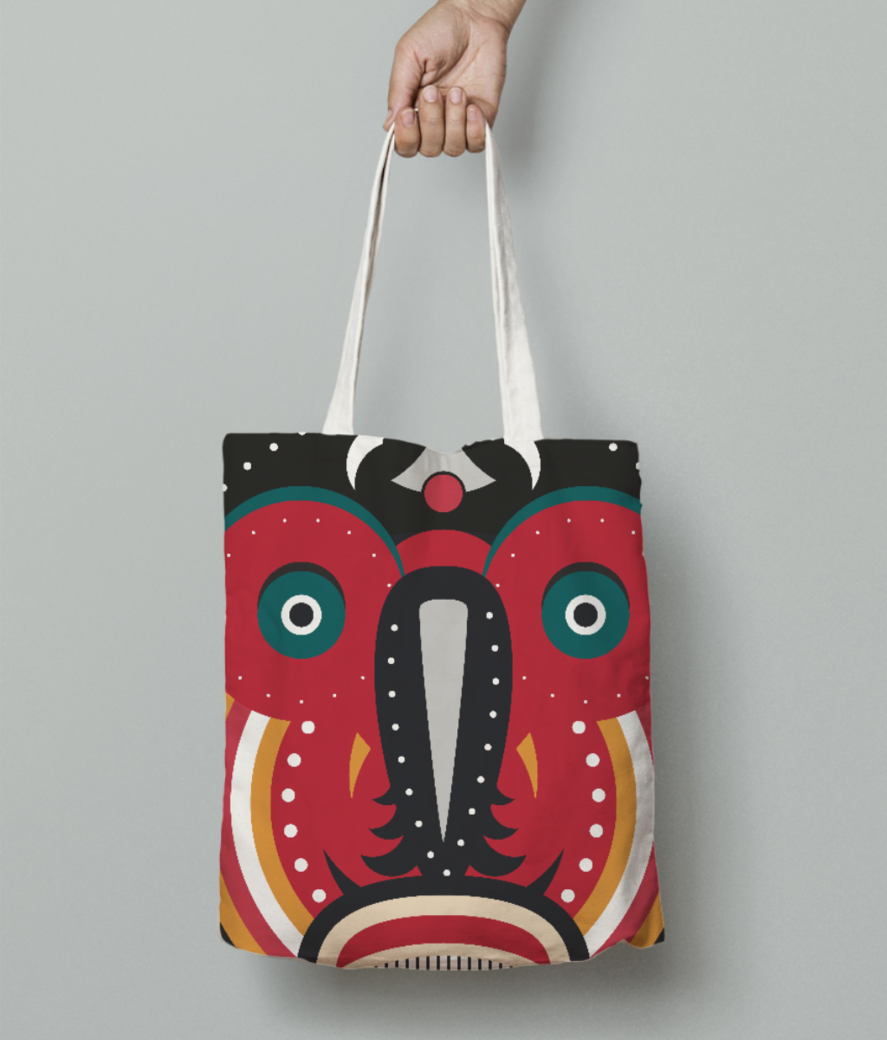 Ethnic african tribal art tote bag front