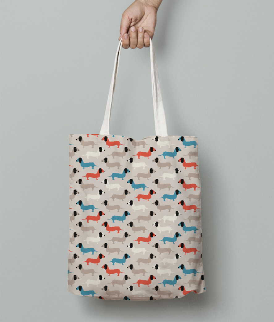 Cute dogs tote bag front