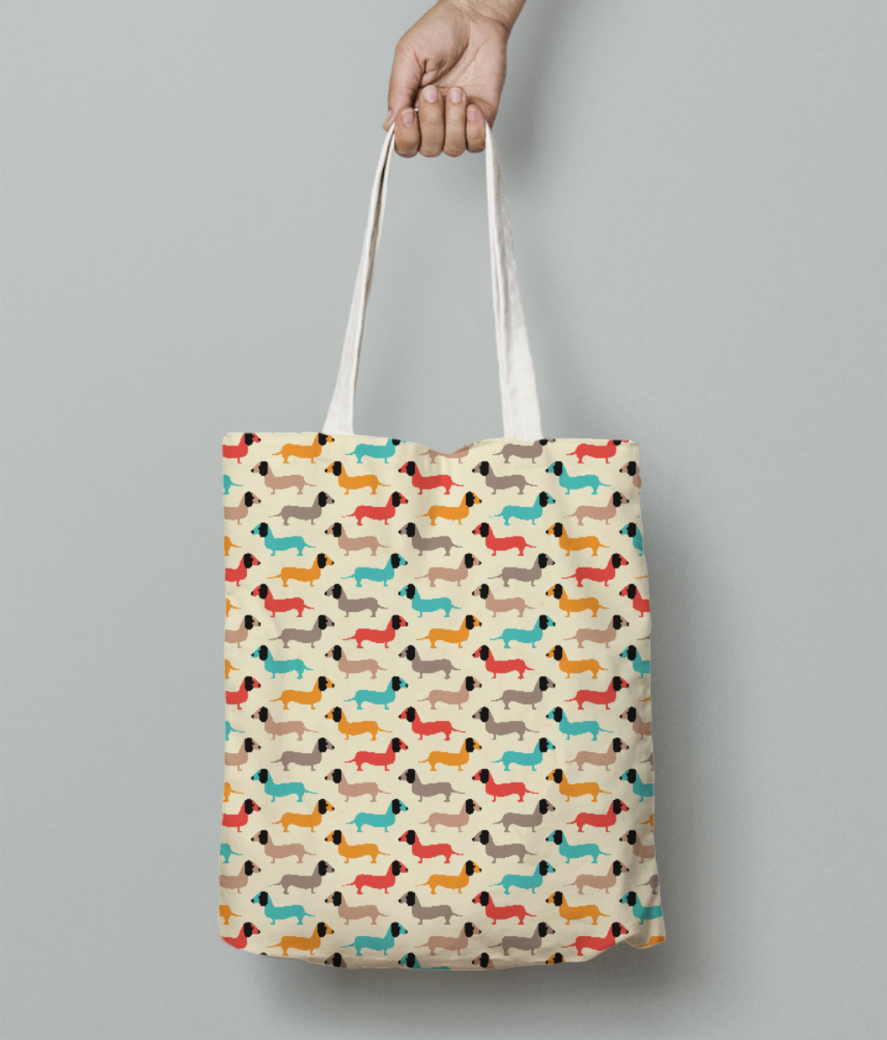 Dogs tote bag front