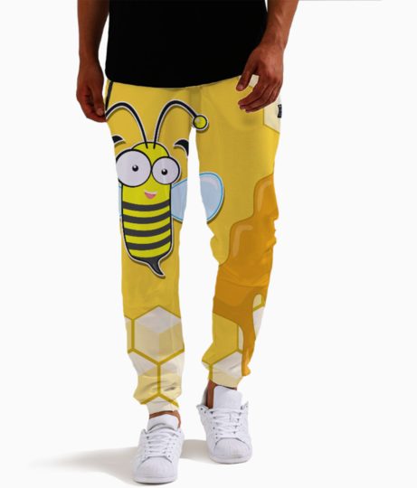 Yellow bee joggers front