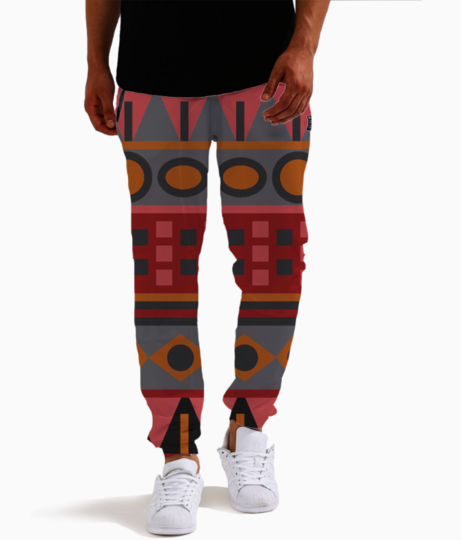 Tribal pattern joggers front