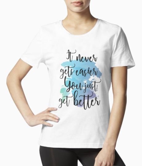 61aa0068e80d6cd987089ea8c648df70  watercolor typography watercolor quotes tee front
